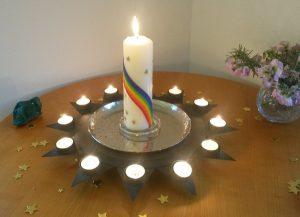 Einweihung Kerze
