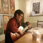 Bettina Kubis beim musikalischen Astro-Quiz